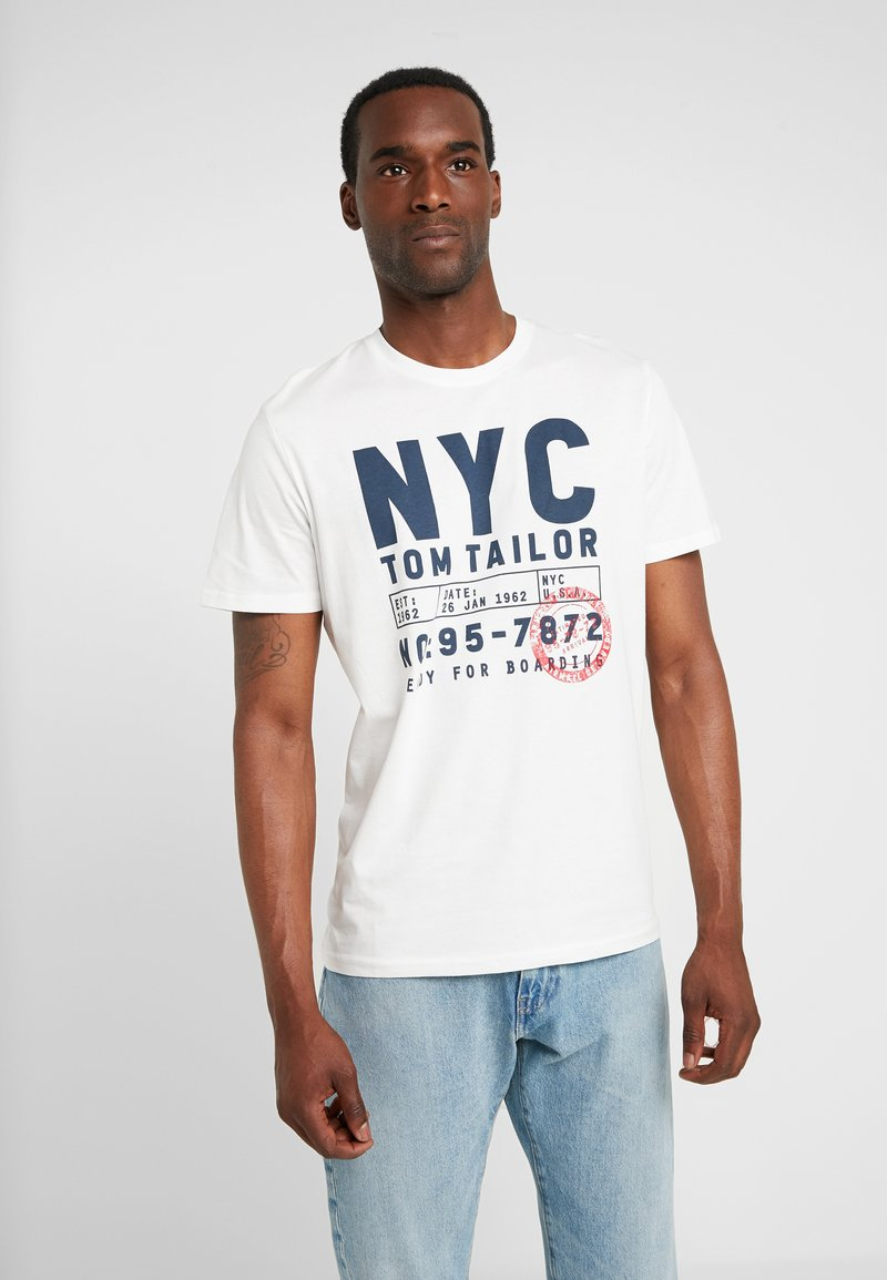 TOM TAILOR - T-shirts print - off white