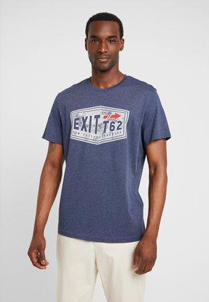 Print T-shirt - true dark blue