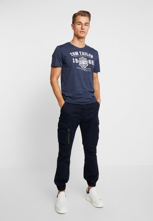 BASIC 2 PACK - T-shirt con stampa - real navy blue/white