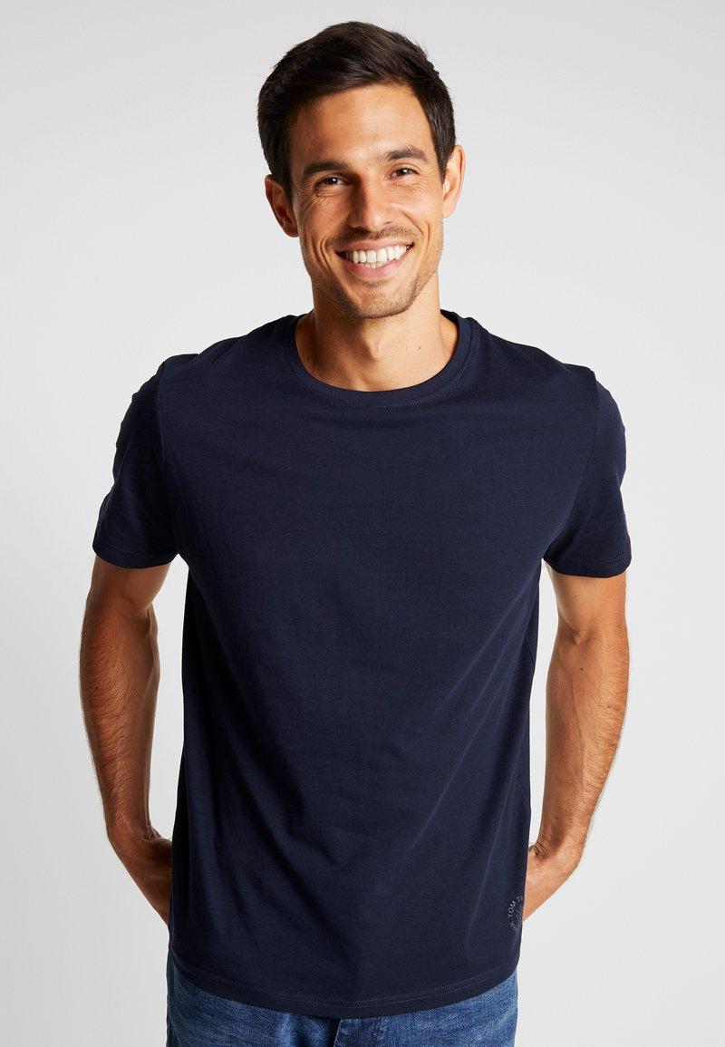 TOM TAILOR - CREW NECK 2 PACK - Basic T-shirt - sky captain blue