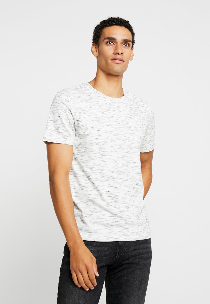 TOM TAILOR - CREW NECK TEE - Camiseta básica - navy/offwhite