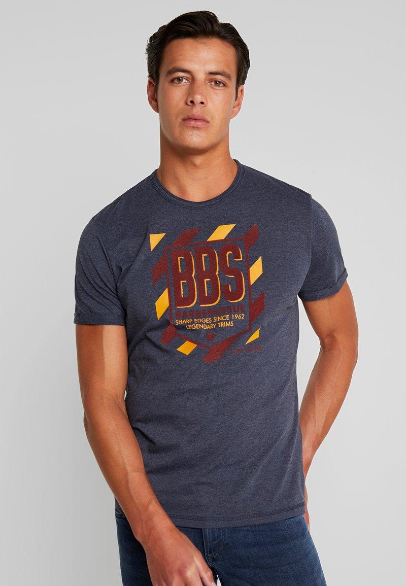 TOM TAILOR - WITH FLOCK PRINT - Print T-shirt - sky captain blue