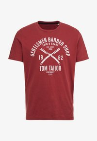 TOM TAILOR - Print T-shirt - fathers pipe red - 4