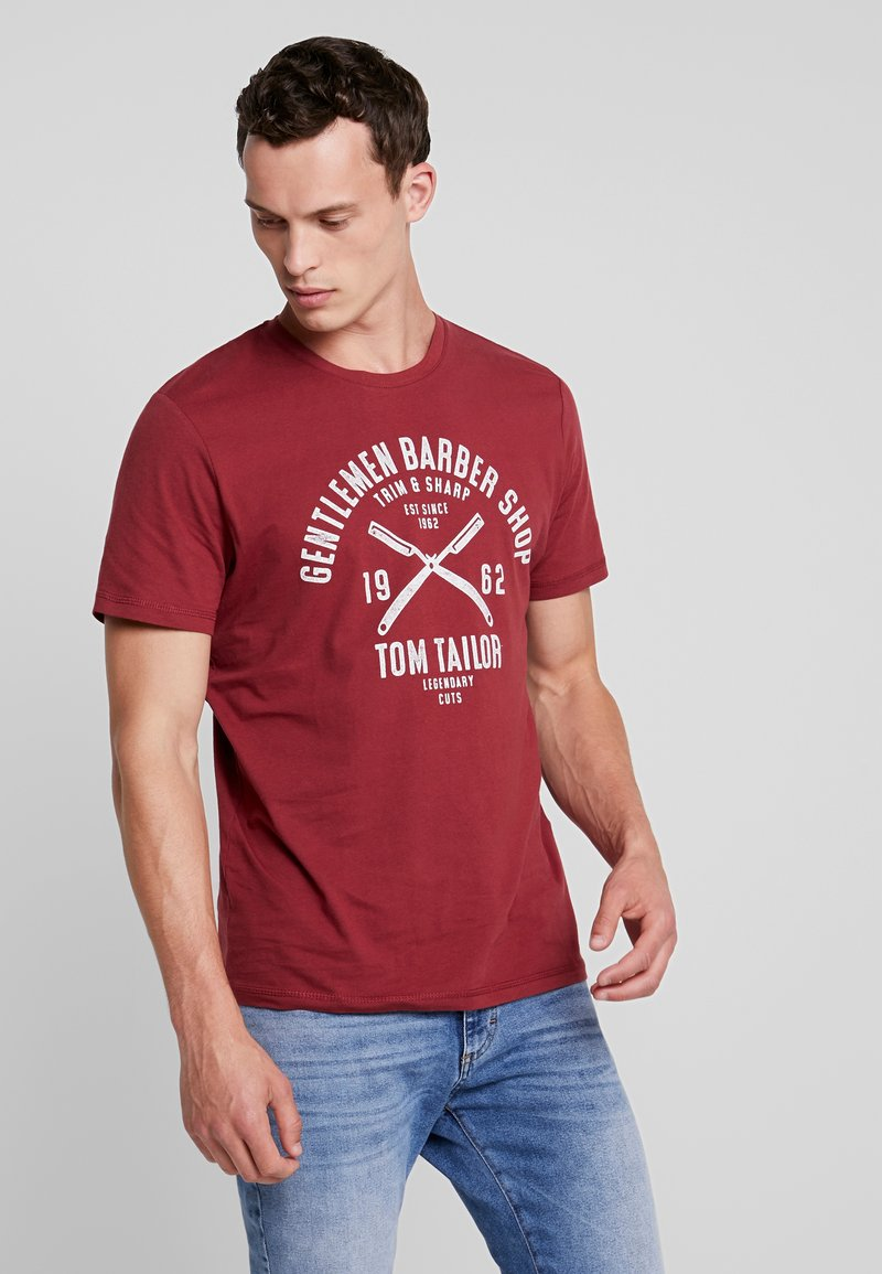 TOM TAILOR - Print T-shirt - fathers pipe red