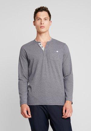 STRIPED LONGSLEEVE - Camiseta de manga larga - navy big yarndye stripe