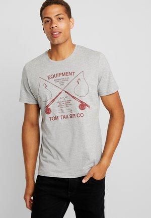 Print T-shirt - middle grey melange