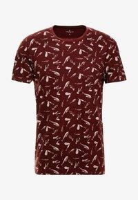 TOM TAILOR - ALLOVER PRINTED TEE - T-shirt z nadrukiem - spicy brown - 3