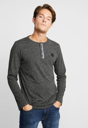 TWOTONE HENLEY - Long sleeved top - magnet heather melange