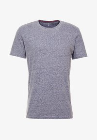 TOM TAILOR - BASIC WINTER - T-shirt basique - real navy/snow melange - 3