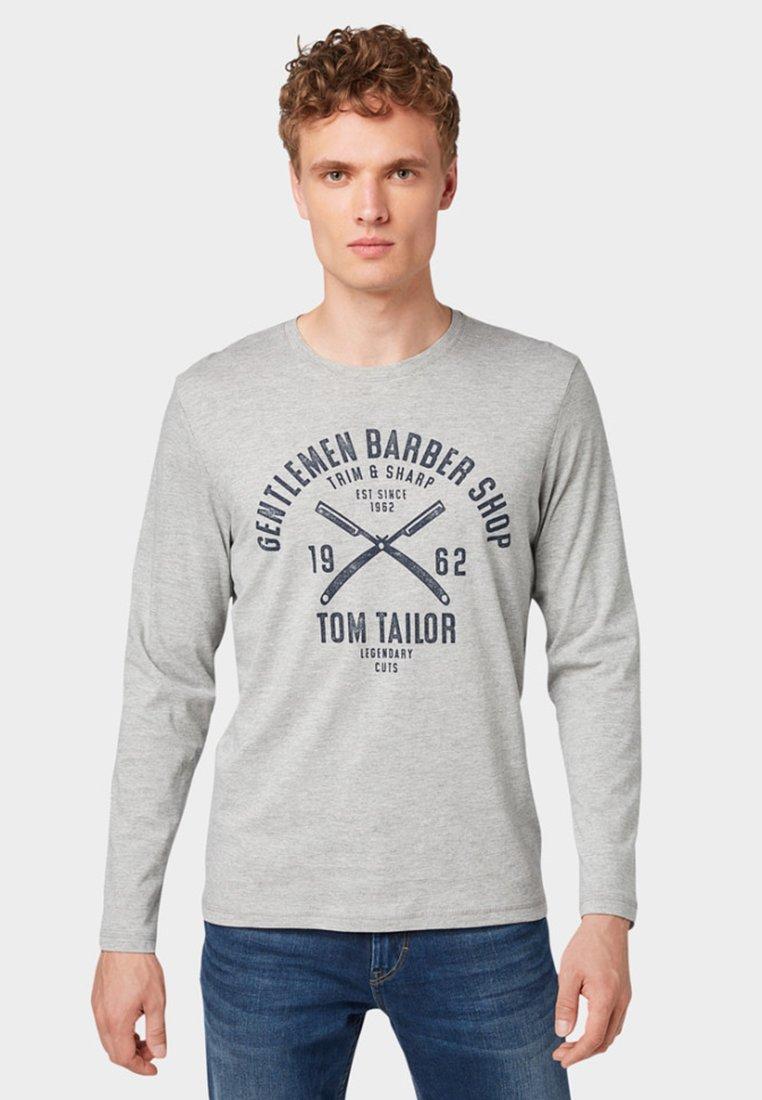 Tom Middle shirt Grey À Longues Melange PrintT Manches Tailor Mit 80nPXkwO