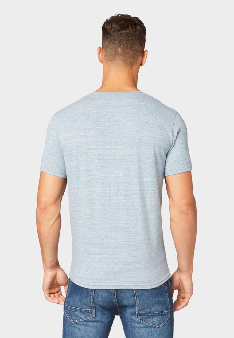 Tom Tailor Basique optikT In Mélange shirt Blue Light wOP8n0Xk