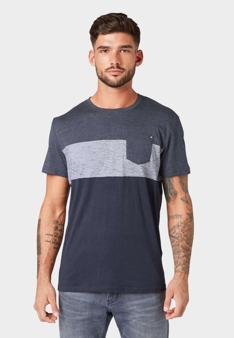 shirt Imprimé mixT Tailor Mit grey Muster Blue Tom tQhCsdr