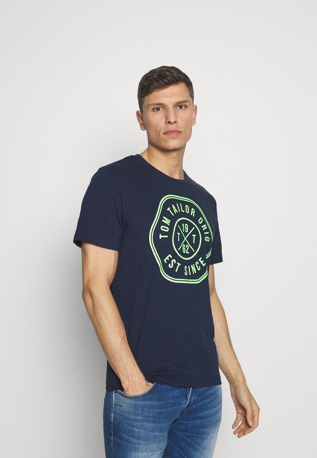 SLUB - T-shirt con stampa - dark blue
