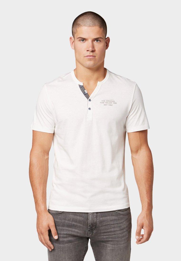 TOM TAILOR - MIT PRINT - T-Shirt print - off white