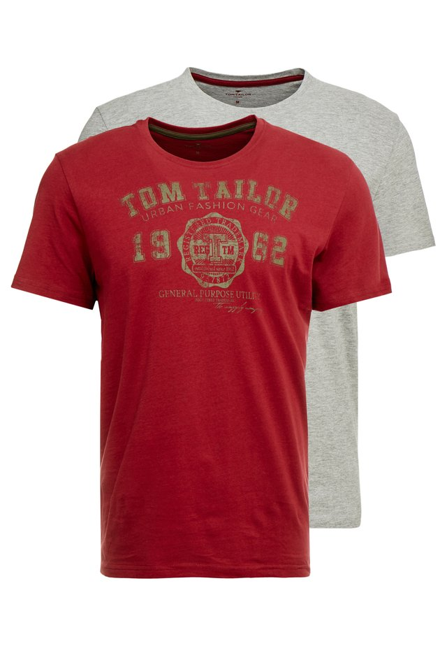 2 PACK - Print T-shirt - father's pipe red