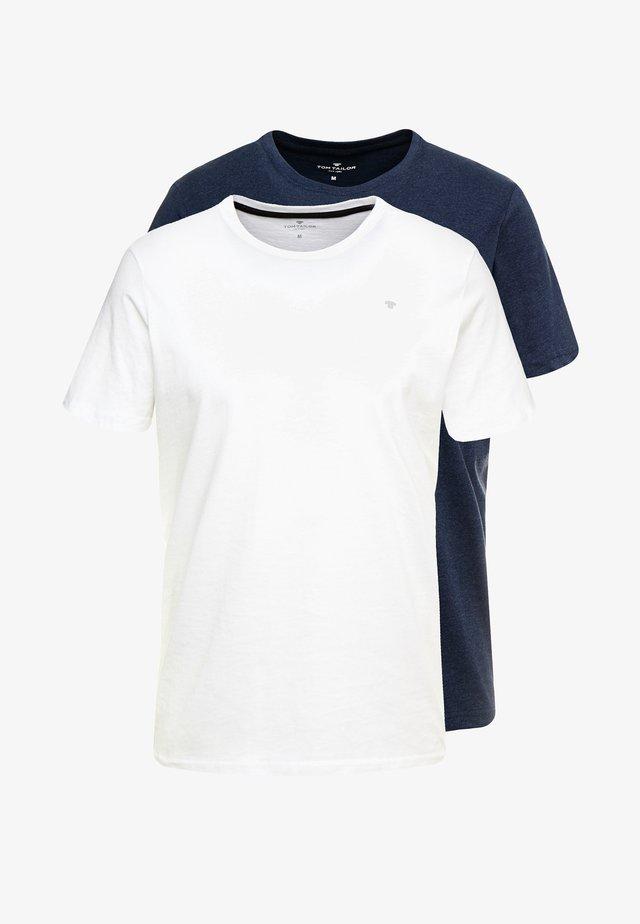 2 PACK - T-shirt z nadrukiem - real navy blue
