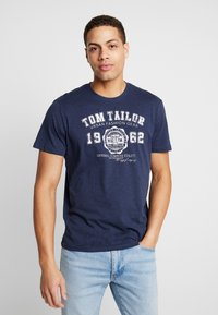TOM TAILOR - 2 PACK - T-shirt z nadrukiem - real navy blue - 3