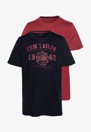 2 PACK - Camiseta estampada - sky captain blue