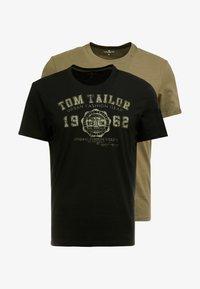 TOM TAILOR - 2 PACK - Triko spotiskem - black - 3