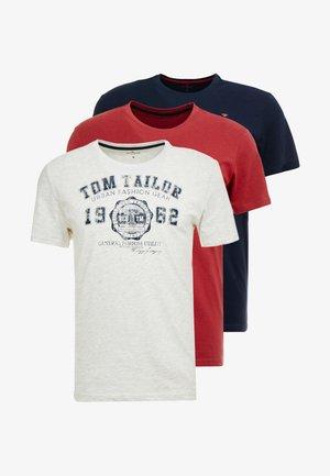 BASIC T-SHIRT 3 PACK - Camiseta estampada - blue