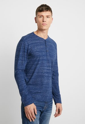 HENLEY WITH EMBRO AT CHEST - Langarmshirt - blue depths injected melange