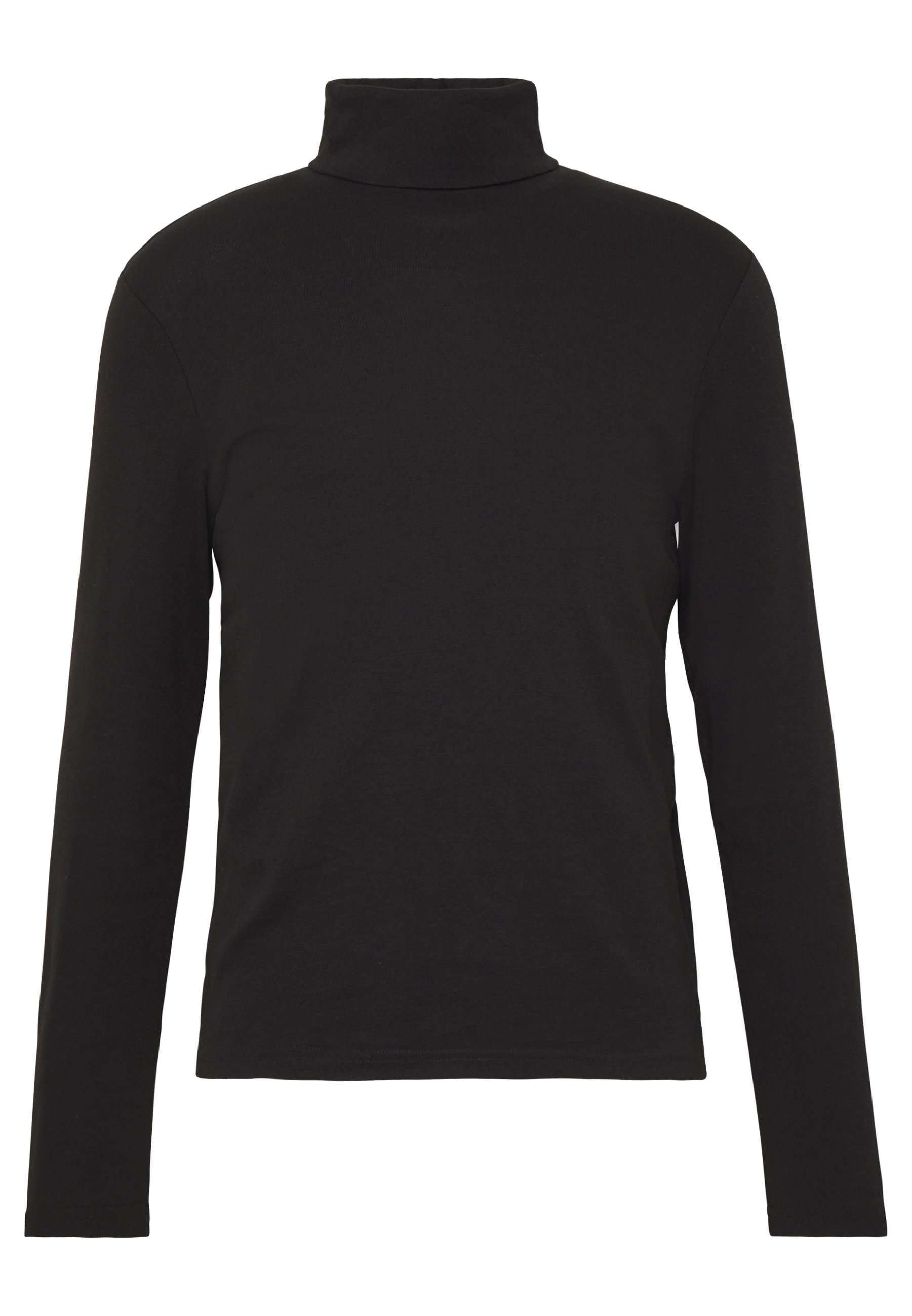 Tom Tailor Roll Neck Longlseeve - T-shirt À Manches Longues Black