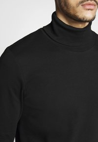 TOM TAILOR - ROLL NECK LONGLSEEVE - Top s dlouhým rukávem - black - 4