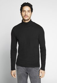 TOM TAILOR - ROLL NECK LONGLSEEVE - Top s dlouhým rukávem - black - 0