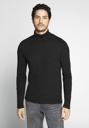ROLL NECK LONGLSEEVE - Langærmede T-shirts - black