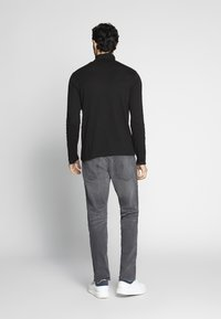 TOM TAILOR - ROLL NECK LONGLSEEVE - Top s dlouhým rukávem - black