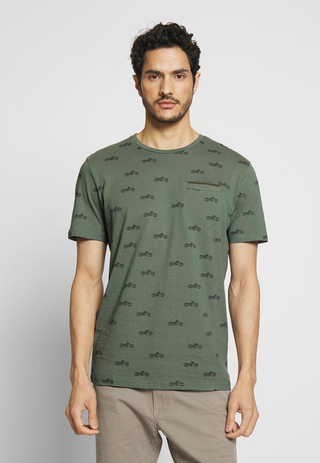 T-shirt print - pale bark green