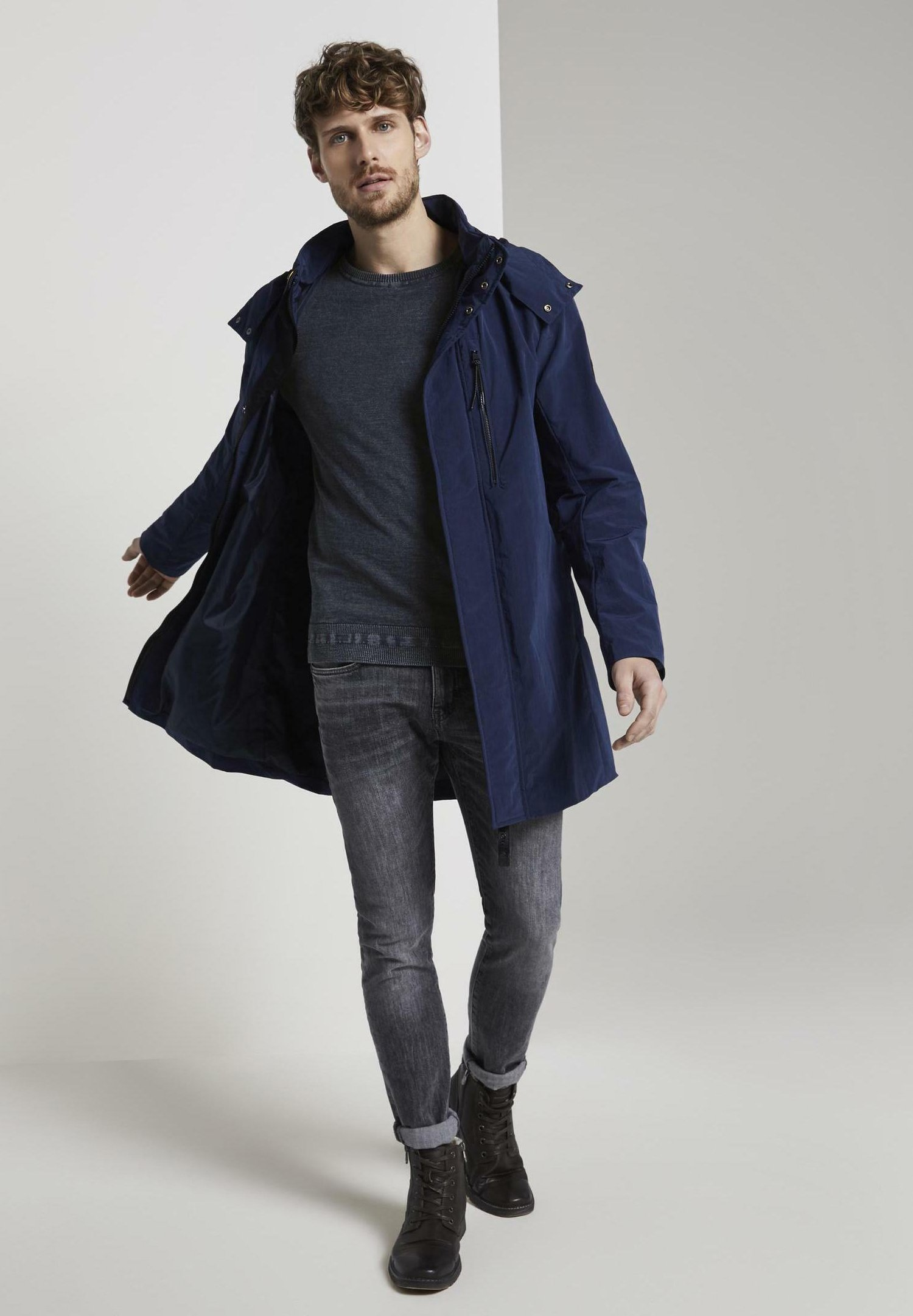 TOM TAILOR Maglione - sky captain blue