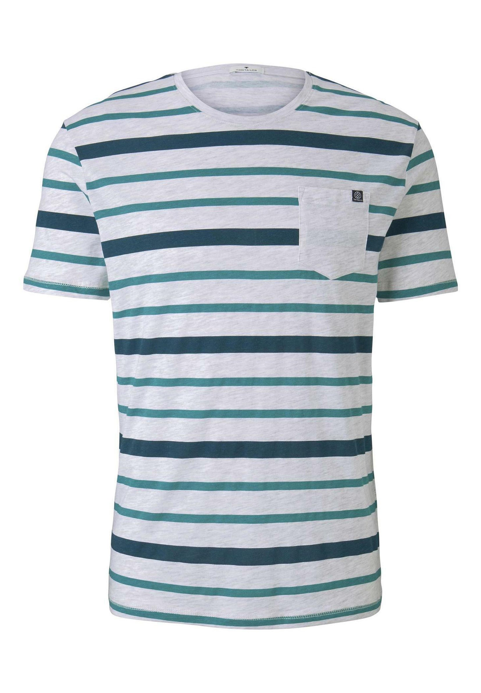 TOM TAILOR Print T-shirt - teal