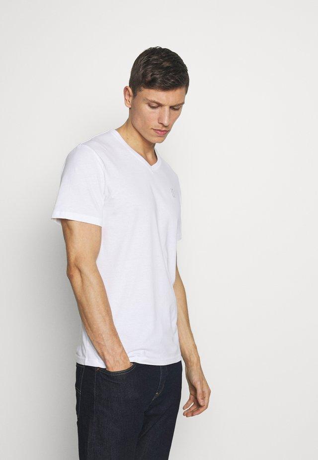 V NECK - T-shirt basic - white