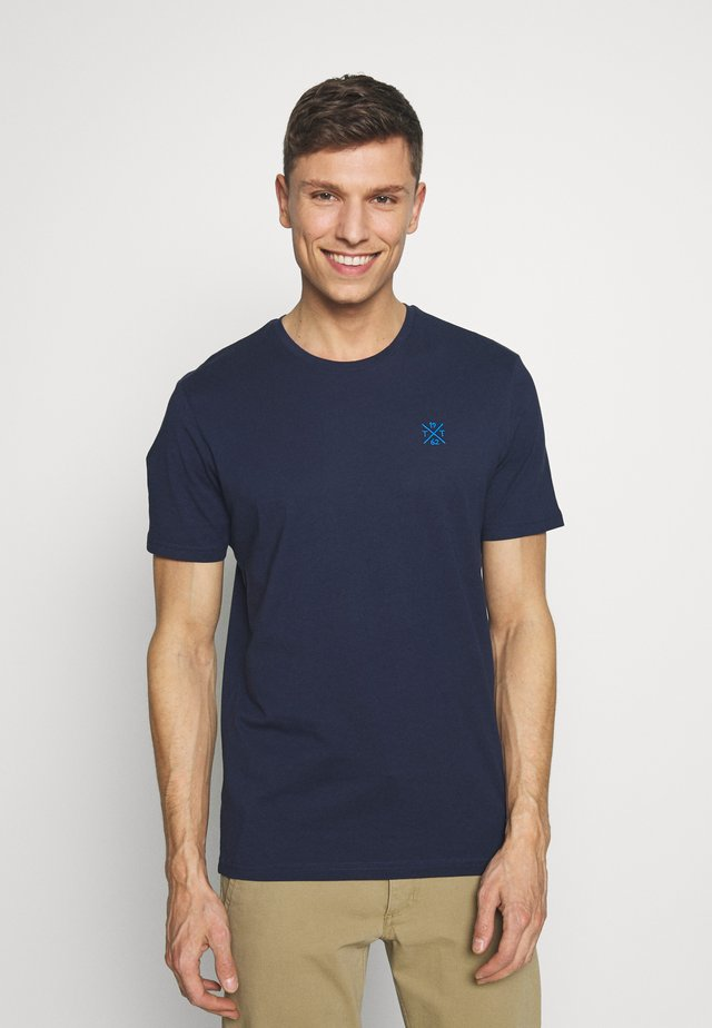 T-shirt basic - black iris blue