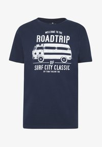 TOM TAILOR - CASUAL PRINT - T-shirt z nadrukiem - black iris/blue - 3