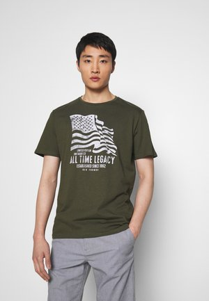 CASUAL PRINT - T-shirt print - olive night green