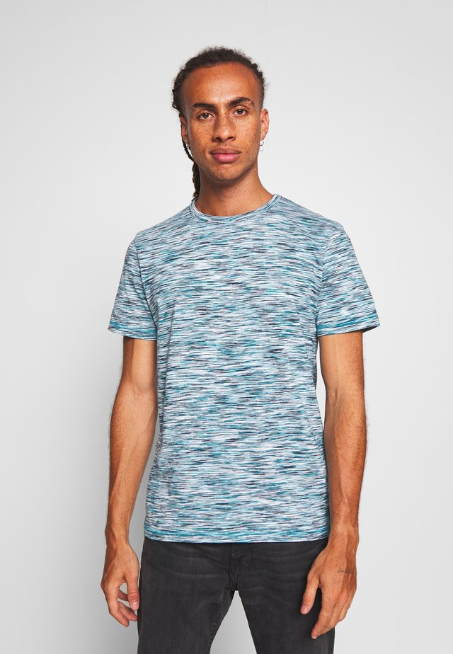 SPACE DYE  - T-shirt z nadrukiem - teal spacedye