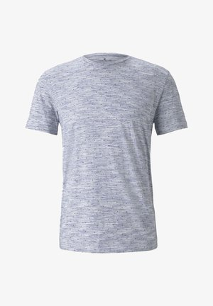 ALLOVER PRINTED T-SHIRT - Print T-shirt - navy streaky inject design