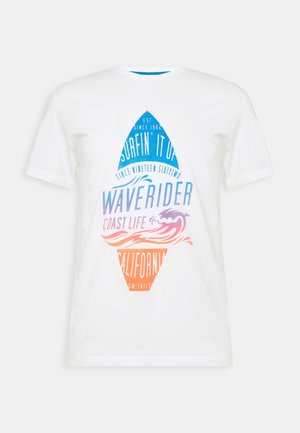 TEE WITH COLOR  - T-shirt print - off white