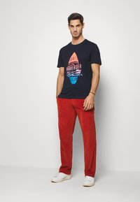 TOM TAILOR - TEE WITH COLOR PRINT - T-shirts med print - sky captain blue - 1