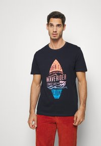 TOM TAILOR - TEE WITH COLOR PRINT - T-shirts med print - sky captain blue - 0