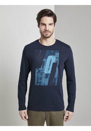 MIT SPORTLICHEM PRINT - Langarmshirt - black iris/blue