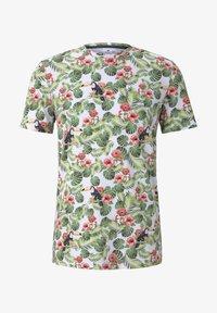 TOM TAILOR - TOM TAILOR T-SHIRT T-SHIRT MIT TROPISCHEM ALLOVER-PRINT - T-shirt print - white - 5