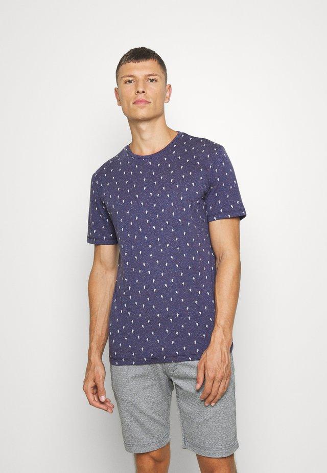 T-shirt print - blue cactus design