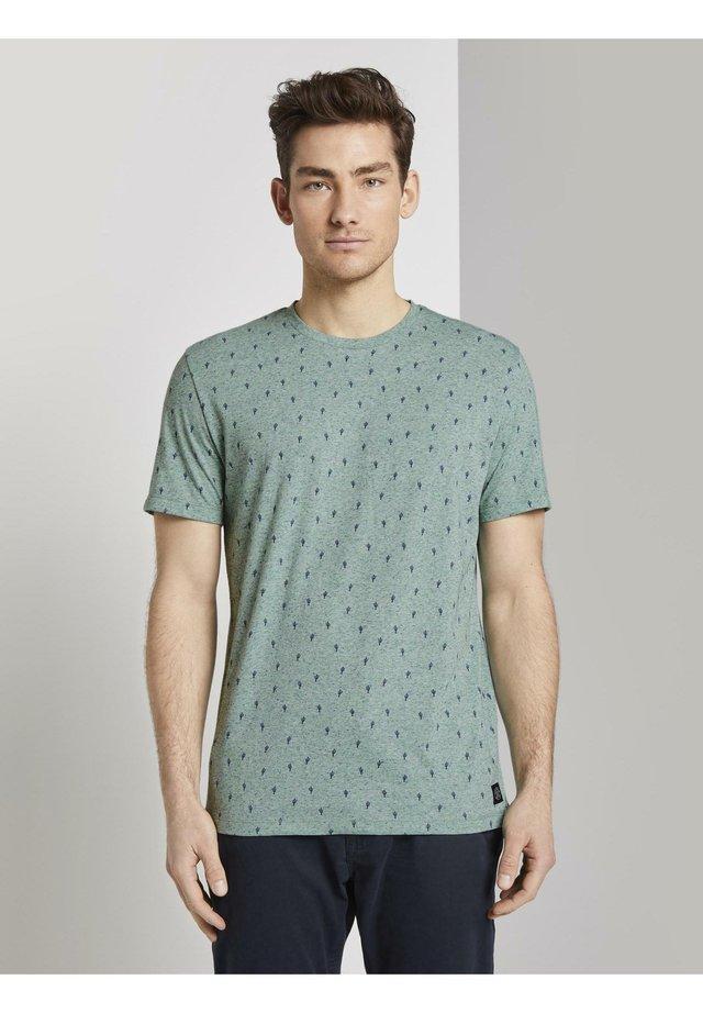 T-shirt print - green cactus design