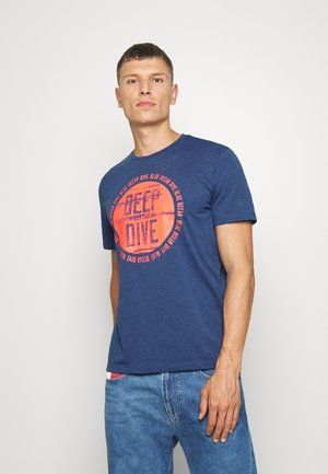 T-shirt print - after dark blue