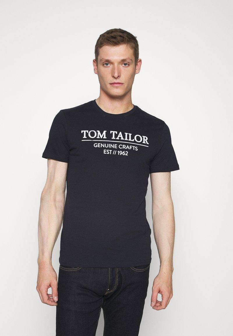 TOM TAILOR - Triko spotiskem - sky captain blue