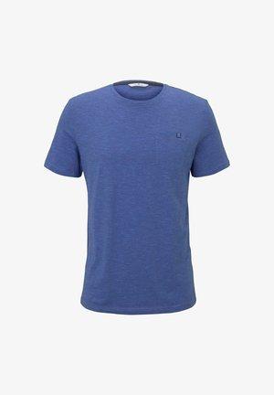 Print T-shirt - shiny royal blue stripe
