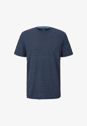 Print T-shirt - blue diamont palm tree design